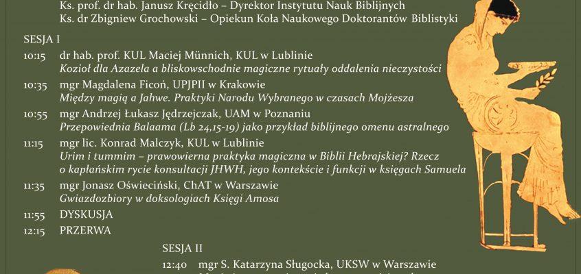 """Konferencja """"Wokół astrologii i magii w Biblii"""""""