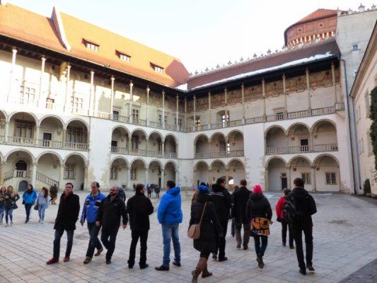 Wyjazd KNDB Kraków 2015 - Wawel, Dziedziniec arkadowy, Fot. © Anna Jagusiak